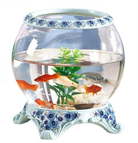 ZWF Creative Goldfish Tank Glas Aquarium Büro Schreibtisch Tisch Couchtisch Handwerk Ornamente - Heizung Handwerk