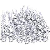 eBoot 40 Pezzi Sposa Matrimonio Nuziale Copricapo Fermagli Fermacapelli di Perle Fiori Cristalli Fascia per Capelli Clip, Bianco