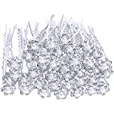 eBoot 40 Pack Horquillas para Cabello de Boda Horquillas de Novia Pasadores de Pelo Flor,Blanco