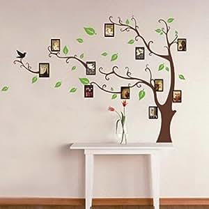 Oiseaux arbre cadre photo amovible Stickers muraux Décoration stickers muraux pour le salon sclazimmer maternelle