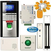 Soter seguridad® Huella digital entrada RFID tarjeta casa casa oficina Kit de sistema de control de acceso + 600lbs eléctrica 280kg cerradura magnética