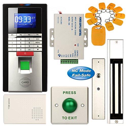 Fingerabdruck Eintrag RFID Zugang Control System Kit + Belastung: 270kg Tür Magnetic Lock (Card Access Door Lock)