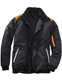 KRÄHE System Pilotenjacke schwarz orange | L