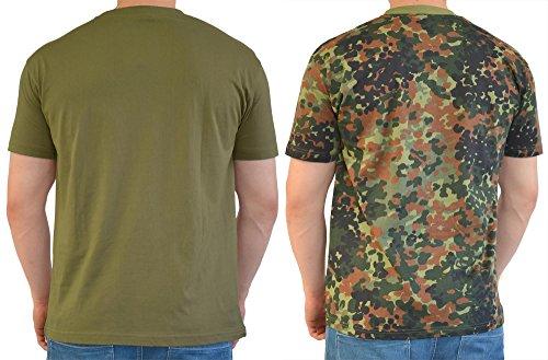 2 x US/BW T-Shirt, klassisches Armee-T-Shirt, in verschiedenen Farben zu Auswahl, in den Größen S-3XL Oliv/Flecktarn