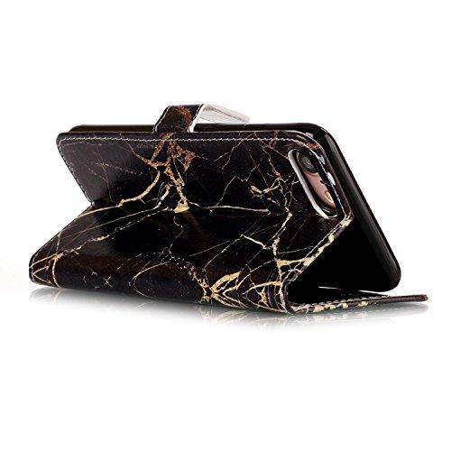 iPhone 8 Hülle, iPhone 8 Case, iPhone 8 Leder Wallet Tasche Brieftasche Schutzhülle, Sunroyal Malerei Rose Muster PU Lederhülle Flip Hülle mit Stand Ständer Etui 9 Karten Slot Kartenfach Kartenfächer  A18
