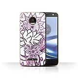 Stuff4 Hülle / Case für Motorola Moto Z Force/Droid / Weiß/Lila Muster / Henna Paisley Blume Kollektion