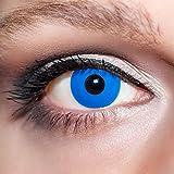 KwikSibs farbige Kontaktlinsen, dunkelblau, Manson, weich, inklusive Behälter, BC 8.6 mm / DIA 14.0 / 0,00 Dioptrien (ohne Stärke), 1er Pack (1 x 2 Stück)