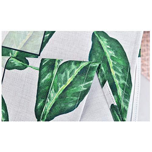 ion Kühlschrank Abdeckung Gitter Baumwolle Leinen Waschmaschine Abdeckung Handtuch Nacht Schrank Staubschutz Tuch (Green Leaf) ()