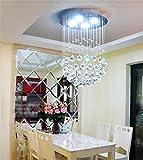 Modernen minimalistischen Kronleuchter Kristall Wendeltreppe, die Schlafzimmer Duplex Wärme Bekleidungsgeschäft Korridor Kronleuchter Lounge Restaurant, 50 * 50 * 70 cm (4 w/Led * 5)