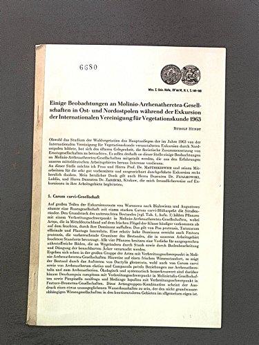 Einige Beobachtungen an Molinio-Arrhenatheretea-Gesellschaften in Ost- und Nordostalpen während der Exkursion der Int. Vereinigung für   Vegetationskunde 1963. Wiss. Z. Univ. Halle, XV, 66, M. H.l, pp 149-160