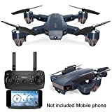 WiFi FPV Drone with Camera,Foldable RC Quadcopter Helicopter FPV Camera 480P /720P HD Camera WiFi Quadcopter Gravity Sense Foldable RC Drone for Beginners