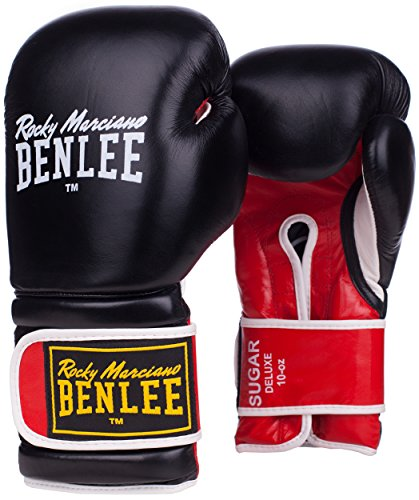 BENLEE Rocky Marciano Boxhandschuhe Boxing Glove Sugar Deluxe, Schwarz/Rot, 14