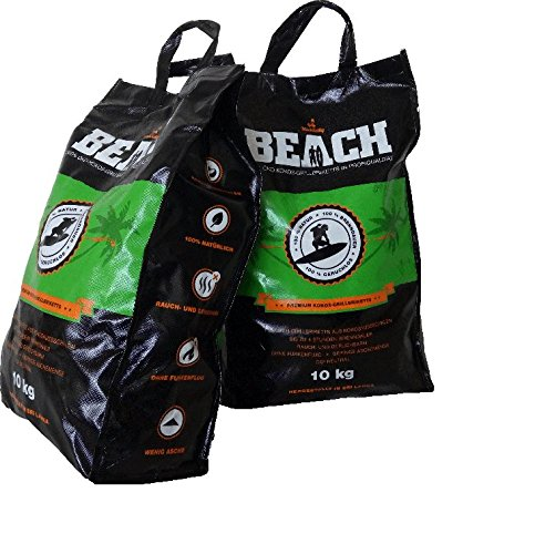 Beach Kokos Grill-Briketts von Black Sellig, 20 Kg thumbnail