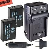 BM Premium 2-Pack Of LP-E12 Batteries & Charger Kit For Canon Rebel SL1 100D EOS-M EOS M2 EOS M10 Mirrorless Digital Camera