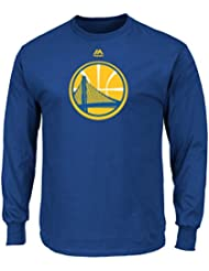 "Golden State Warriors Majestic NBA ""Supreme Logo"" Men's Long Sleeve T-Shirt Chemise"