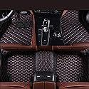 Zmkar Auto Fußmatten Automatte für SsangYong Rexton 5 Sitz 2008-2016 Rutschfeste Wasserdicht Umweltfreundliche Materialien Fußmatten Maßgefertigt (schwarz mit roten Nähten, Linkslenker)