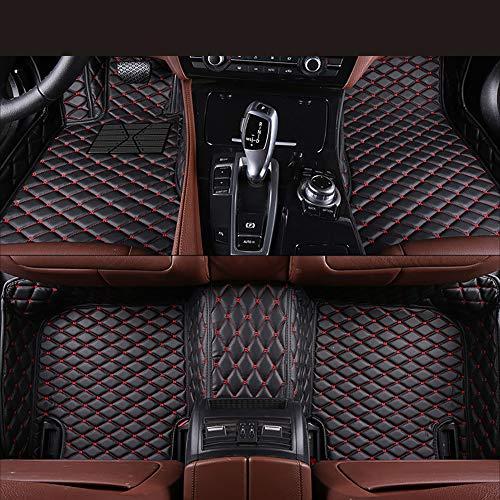 Preisvergleich Produktbild Zmkar Auto Fußmatten Automatte für Porsche Boxster Cabrio 2004-2011 Rutschfeste Wasserdicht Umweltfreundliche Materialien Fußmatten Maßgefertigt (schwarz mit roten Nähten,  Linkslenker)