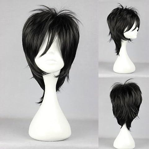 Ladieshair Cosplay Perücke schwarz 32cm glatt Togainu no Chi Shiki (Togainu No Chi Shiki Cosplay)