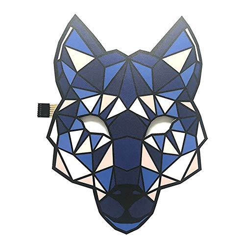 (TRULIL Musik-Masken, leuchtende LED-Party-Maske, Gruselige Halloween-Maske, Stimmsteuerung, Blinkende Masken für Festivals, Partys, Halloween, Karneval, Tanz, Ball, Maskeraden, Cosplay, DJ-Maske B)