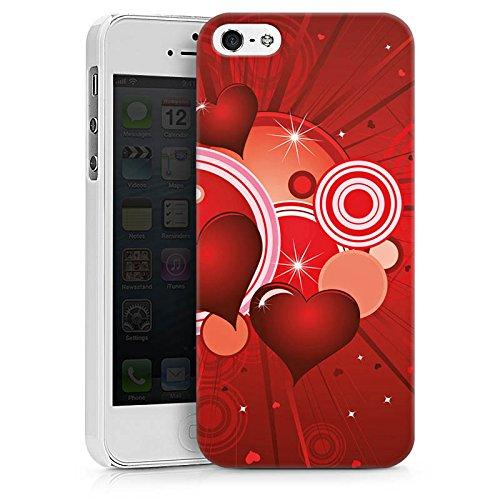 Apple iPhone X Silikon Hülle Case Schutzhülle Herz Liebe Kreis Hard Case weiß