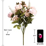 StarLifey Künstliche Blumen, Altmodische Pfingstrosen kunstblumen, aus Seide für Hochzeit Heim-Dekoration, 1 Stück hellrosa - 6
