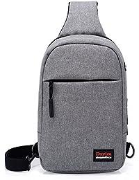 bdabb899e5 Asdflina Multiuso Sling Bag Chest Shoulder Backpack Crossbody Bags per Uomo  Donna Che Viaggia all