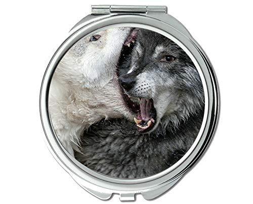 Yanteng Spiegel, Reisespiegel, Tierspiegel mit großem Mund, 1 X 2X Vergrößerung