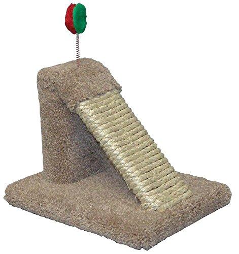 Claw Tuff Katze Winkel Kratzbaum mit Spielzeug (North American Katzenminze)