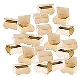 20 Holzkästchen mit Deckel 11x6x8cm Holz natur bauchig VBS Großhandelspackung von VBS Hobby Service