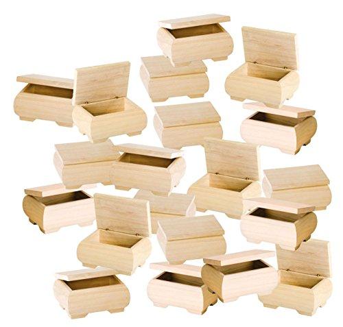 20 Holzkästchen mit Deckel 11x6x8cm Holz natur bauchig VBS Großhandelspackung