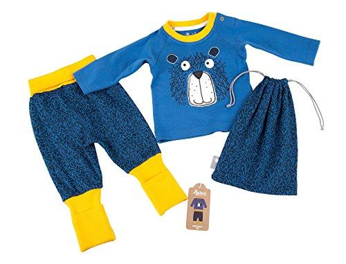 Sigikid Baby-Jungen Zweiteiliger Schlafanzug Pyjama, Blau (Star Sappire 563), 92