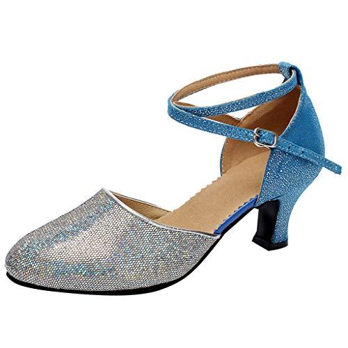 Damen Latein Salsa Rumba Tanz Schuhe Riemchen Abs. 5.5 cm Frauen Ballsaal Tango Latin Salsa Tanzschuhe Pailletten Schuhe Social Dance Schuh By Vovotrade