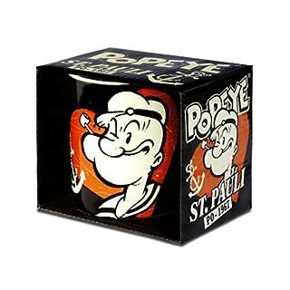 Popeye der Seemann - St. Pauli Porzellan Tasse - Kaffeebecher - schwarz - Lizenziertes Originaldesign - LOGOSHIRT