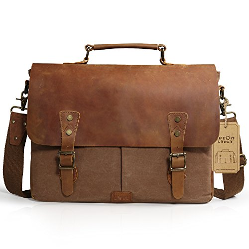 Lifewit 14- 15.6 Zoll Laptop Tasche Männer Umhängetaschen Herren Arbeitstaschen Aktentasche Ledertasche Messenger Bag Notebooktasche Schultertaschen