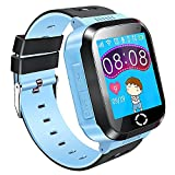 Bambini Smartwatch 1.44 pollici touch screen GPS Tracker SOS Anti-perso Bambini Orologio Finder sicurezza Monitor (blu)