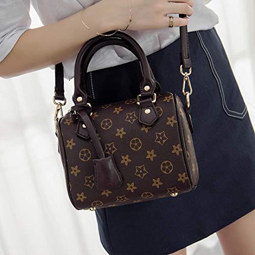 Medium Boston Handtasche (SPFAZJ Kissen Tasche Tasche Weibliche 2019 Neue Koreanische Version Der Lederhandtaschen Atmosphärischen Druck Hand Schulter Schulter Slung Boston Tasche)