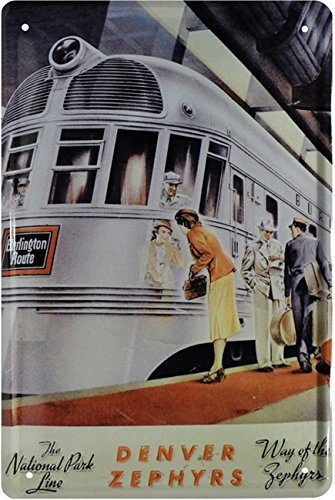 The legendary Denver Zephyr Train Zug USA Blechschild 20 x 30 Retro Blech 1681 (Usa Zug)