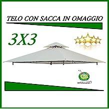 Telo per gazebo 3x3 impermeabile for Telo copribici amazon