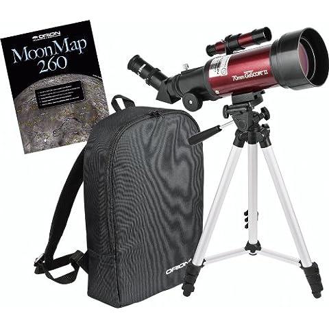 Kit lunar de telescopio refractor de viaje Orion GoScope II 70 mm