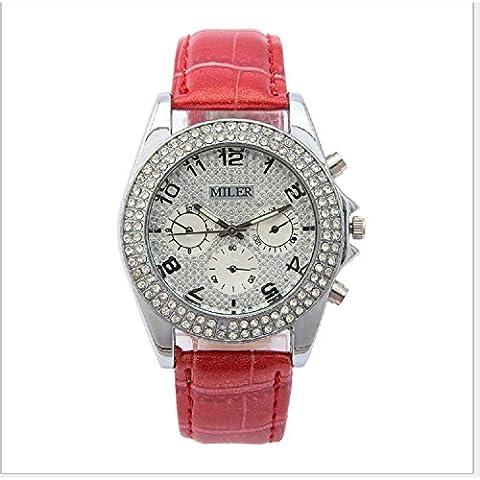 Moda moda reloj de cuarzo reloj dama del diamante , red