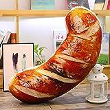 Nishci Simulazione BBQ Food Pillows - 3D Creativo grigliato arrosto Salsiccia simulato Cibo Giocattoli Peluche Cuscini Divertente Decorazione per la casa Camera da Letto