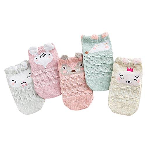 XPX Garment 5paar Mesh Karikatur Tier Baumwolle Unisex Baby Socken Neugeborenen Liner Socken Für Baby 0-3 Jahre -