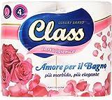 Class - Carta Igienica, 3 Veli Delicati, Pura Cellulosa - 4 Rotoli