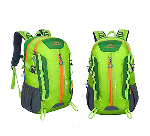40L Backpack Outdoor Sports Large Kapazität Portable Nylon Oxford Rucksack Wandern Traveling Bergsteigen Multifunktion Double Schulter Tasche H32 x W50 x T22 cm Green