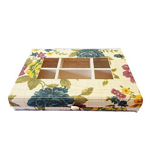 Kids MandiTM New Handmade Storage Box Natural Wooden Postcard Home Organizer Craft Jewelry Case Wedding Gift (Multicolor)
