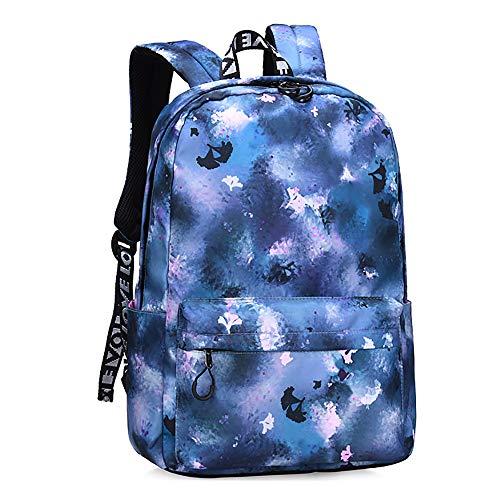 CYYAB Wanderrucksack für Kinder mit, Lässiger Kinderrucksack Wasserdicht/atmungsaktiv/verschleißfest/ausgleichsreduzierend für Verbundstoffe, Sport, Reise (28 * 11 * 39cm),Blue