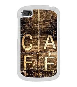 Vintage Café Sign 2D Hard Polycarbonate Designer Back Case Cover for BlackBerry Q10