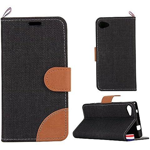 Denim-Tessuto Cover per Sony Xperia Z5 MINI Cowboy tessuti tessuto