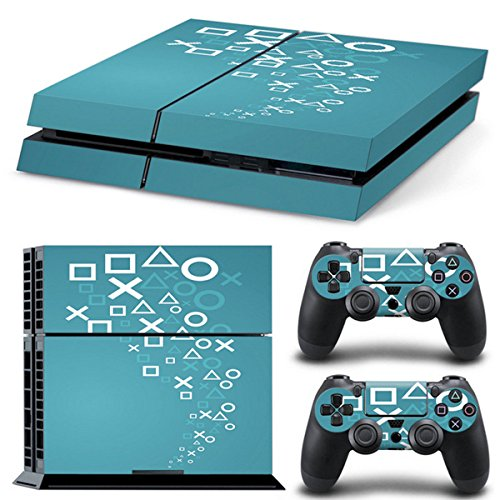 Saver Cover Haut Aufkleber Decal Dekor Für Playstation 4 PS4 Konsole + 2 Controller -