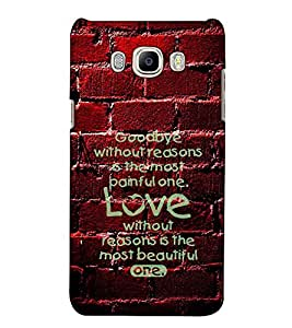 Fuson Designer Back Case Cover for Samsung Galaxy On Nxt (2016) (Goodbye without reason theme)